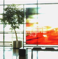 Glass art - Stockholm airport